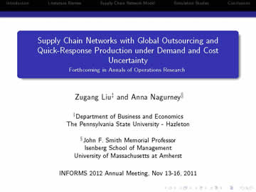 INFORMS 2011