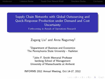 INFORMS 2012